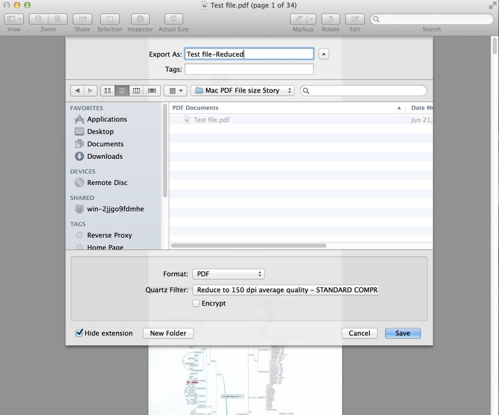 how to reduce the size of pdf on mac