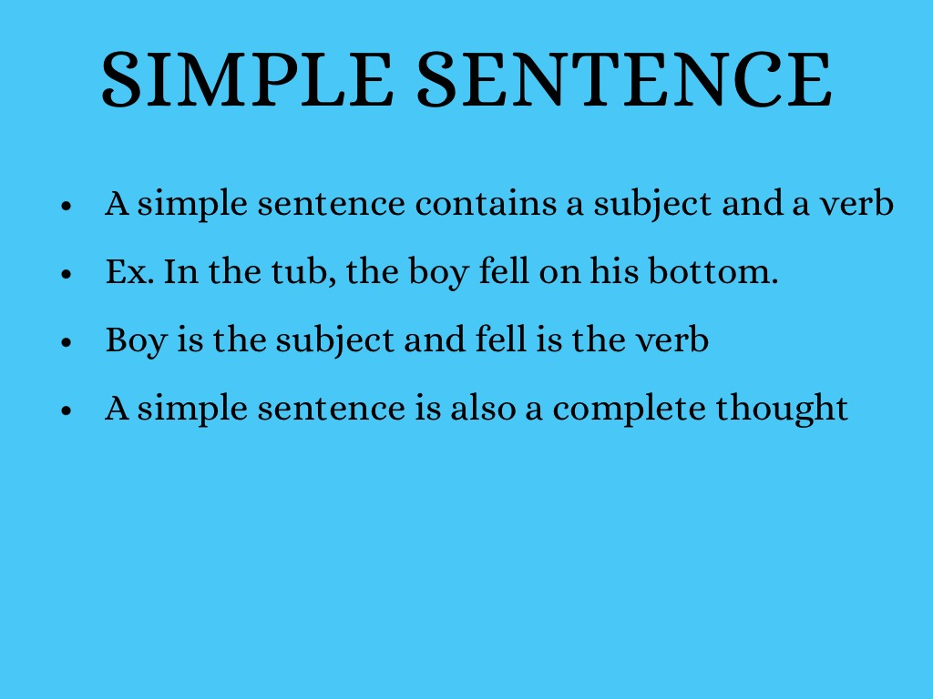 simple compound and complex sentences exercises with answers pdf