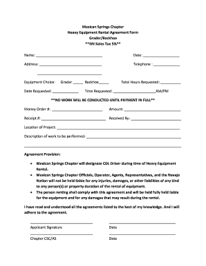simple equipment rental agreement pdf
