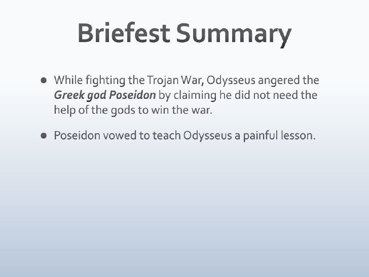 the odyssey short summary pdf