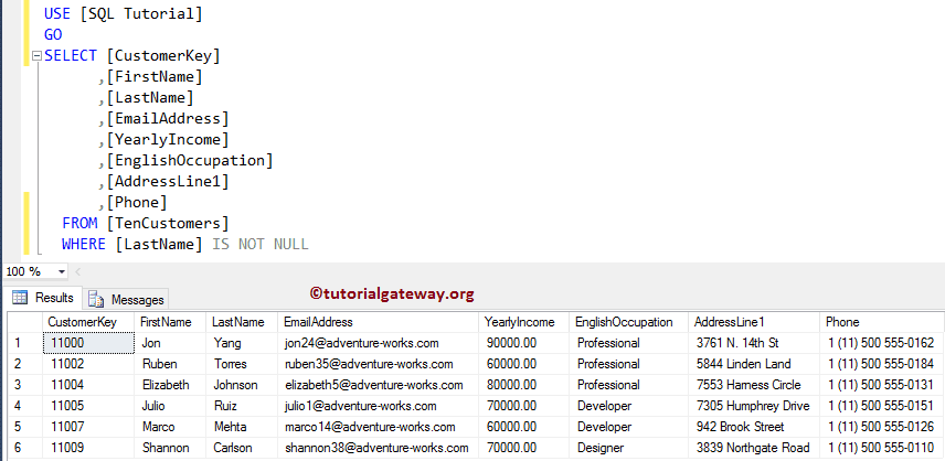 all sql commands with examples pdf