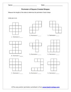 area and perimeter of 2 d shapes pdf