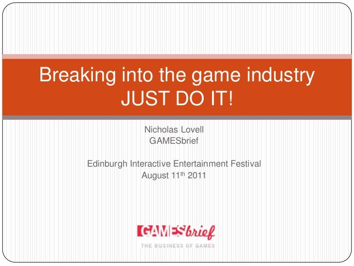 breaking into the game industry pdf