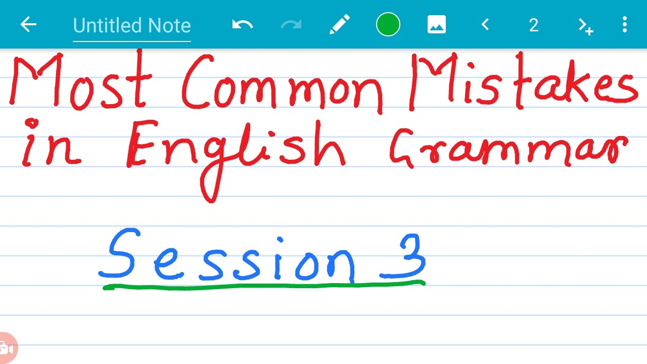most common grammar mistakes in english pdf