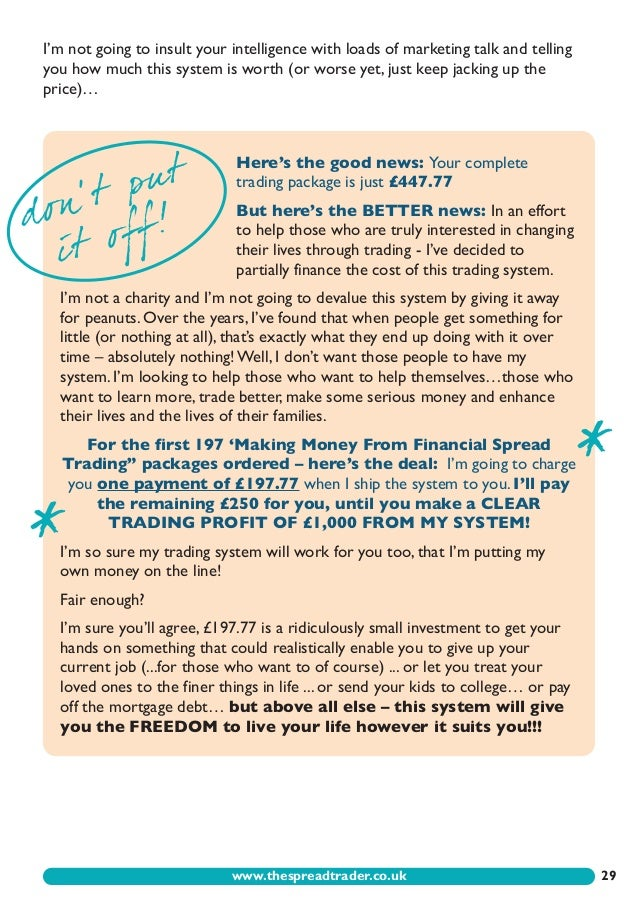 making money from financial spread trading pdf