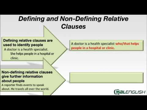 difference between defining and non defining relative clauses pdf