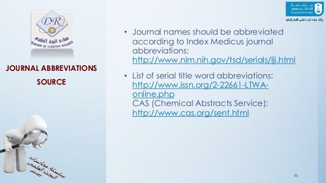 isi journal title abbreviations pdf