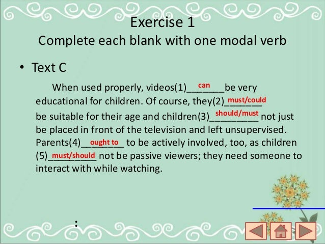 pdf exercises using should ought to and had better