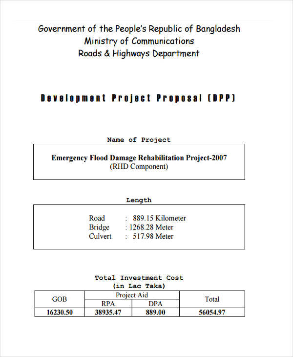 components of project proposal pdf