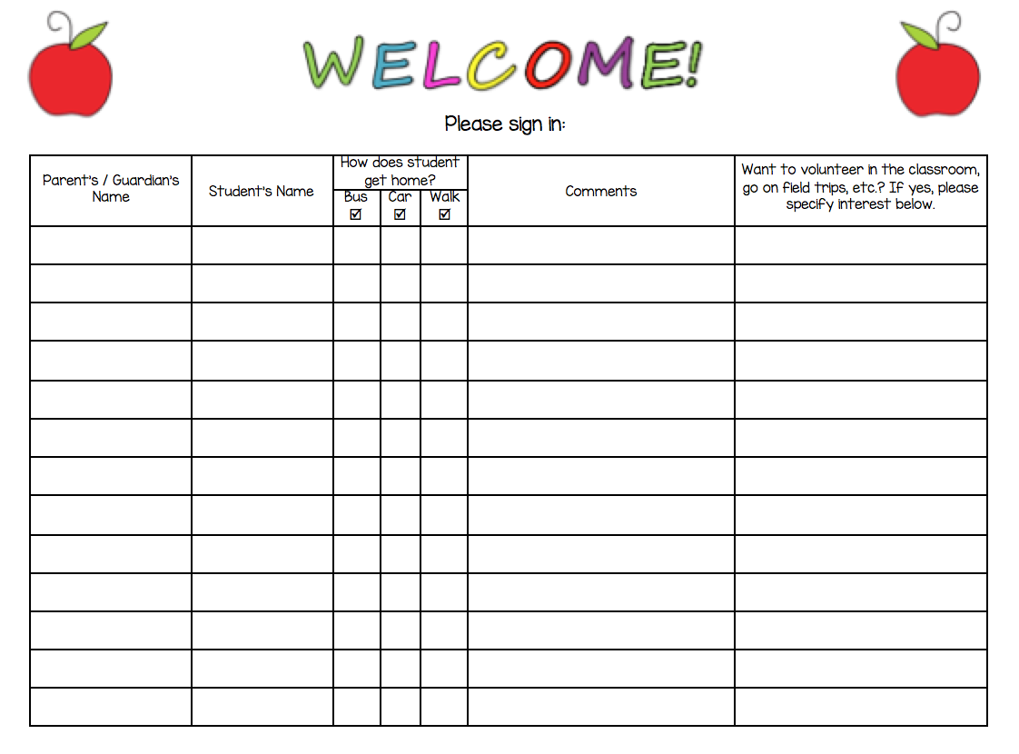 sign in sheet for open house pdf