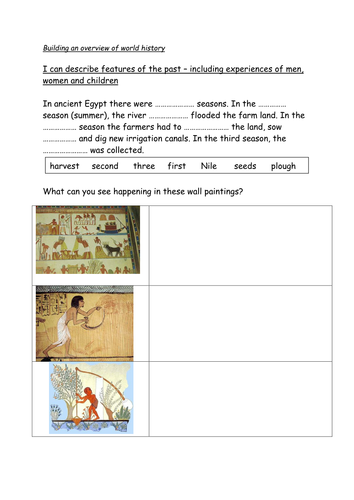 ancient egypt worksheets for middle school pdf