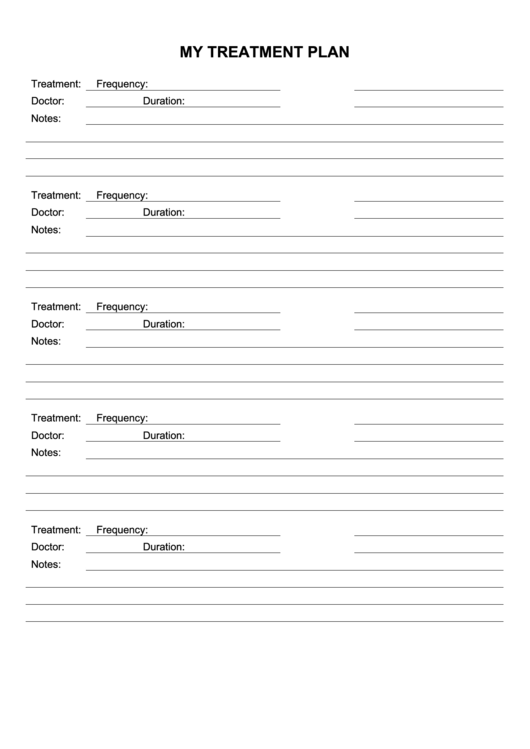 dental treatment plan template pdf