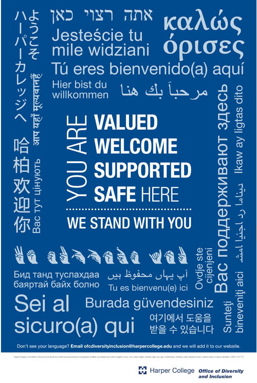 welcome poster in different languages pdf