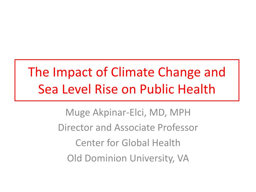 impact of regional climate change on human health pdf