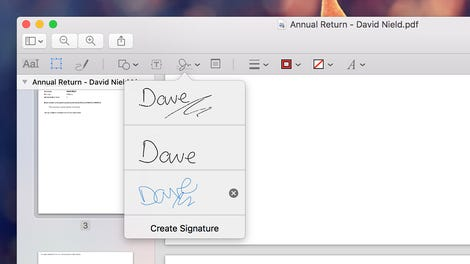 how to fill in pdf mac