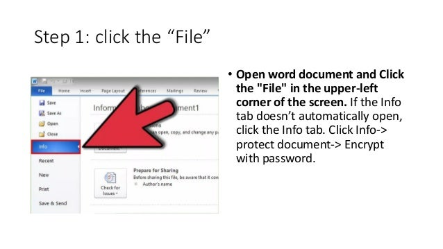 how to lock pass word a pdf file