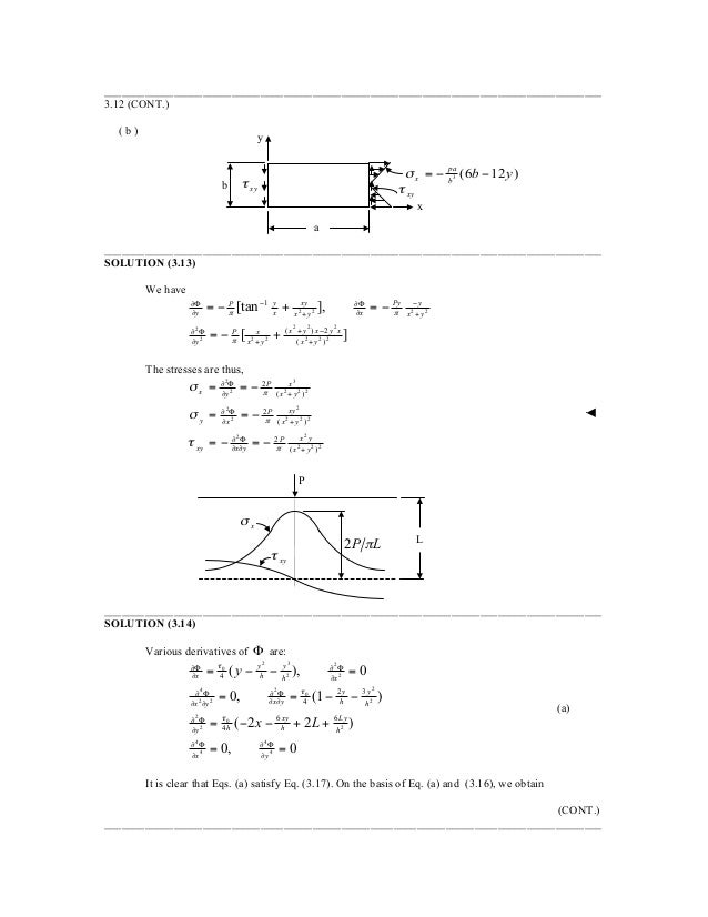 advanced mechanics of materials and applied elasticity solution manual pdf