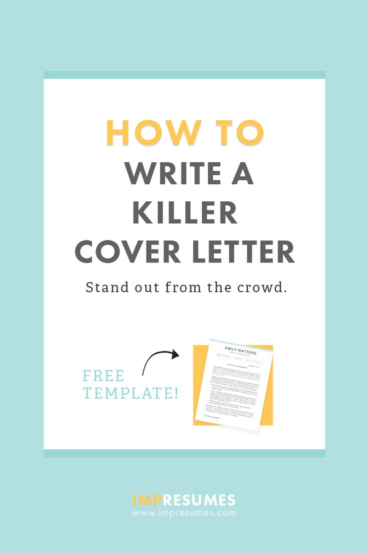how to write a resume letter pdf