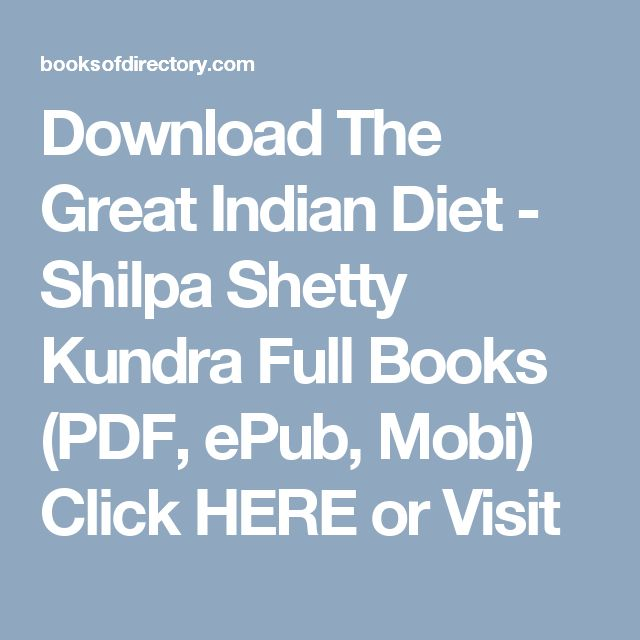 the great indian diet by shilpa shetty pdf