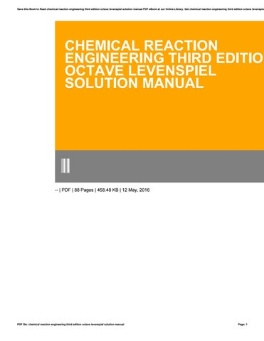 essentials of chemical reaction engineering 1st edition pdf