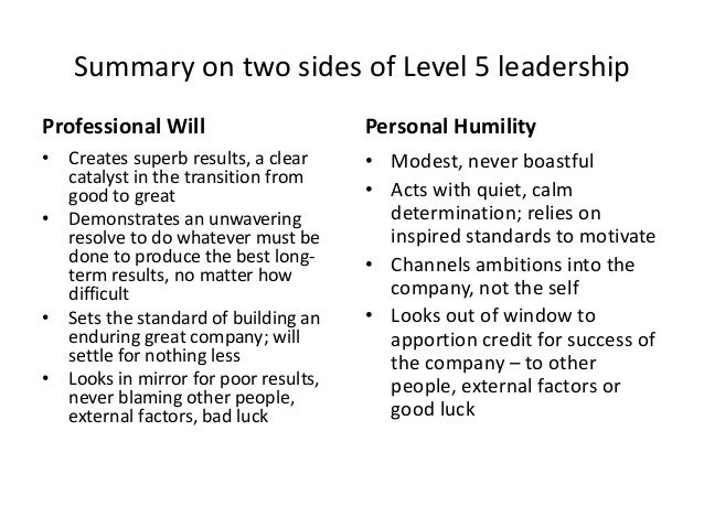 from good to great summary pdf