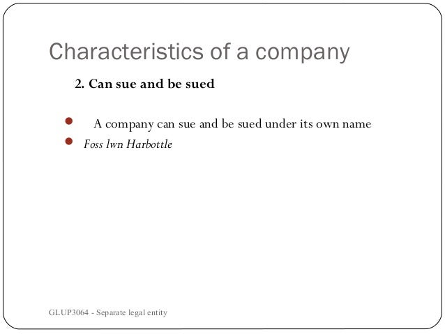 separate legal personality of a company pdf