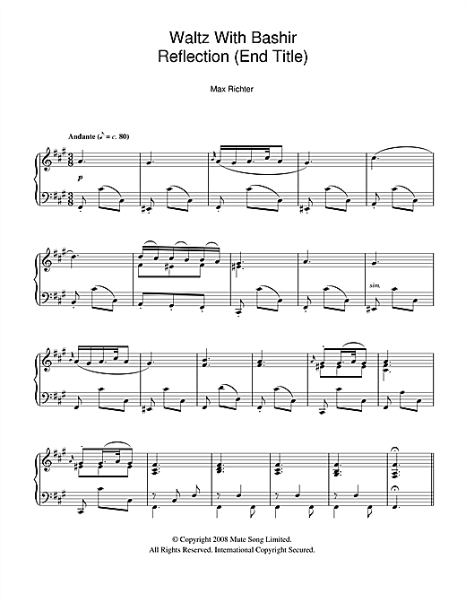 once upon a december score pdf
