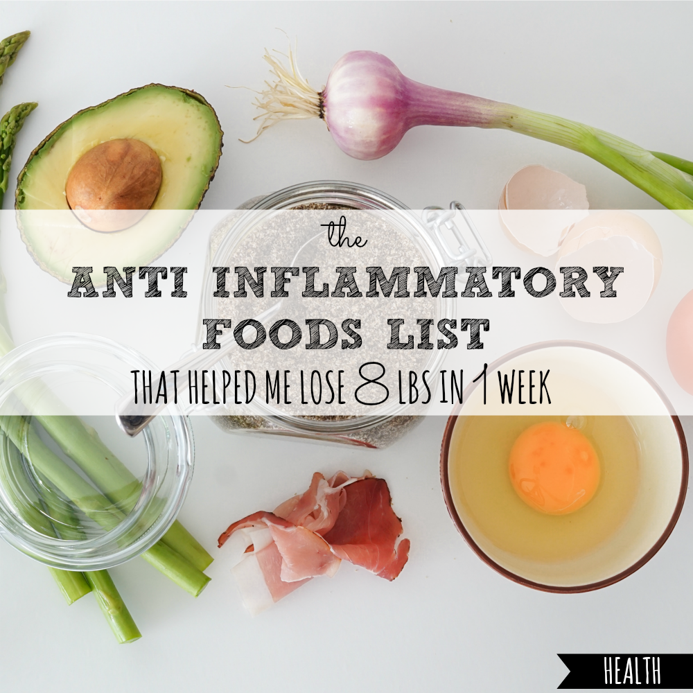 anti inflammatory foods list pdf