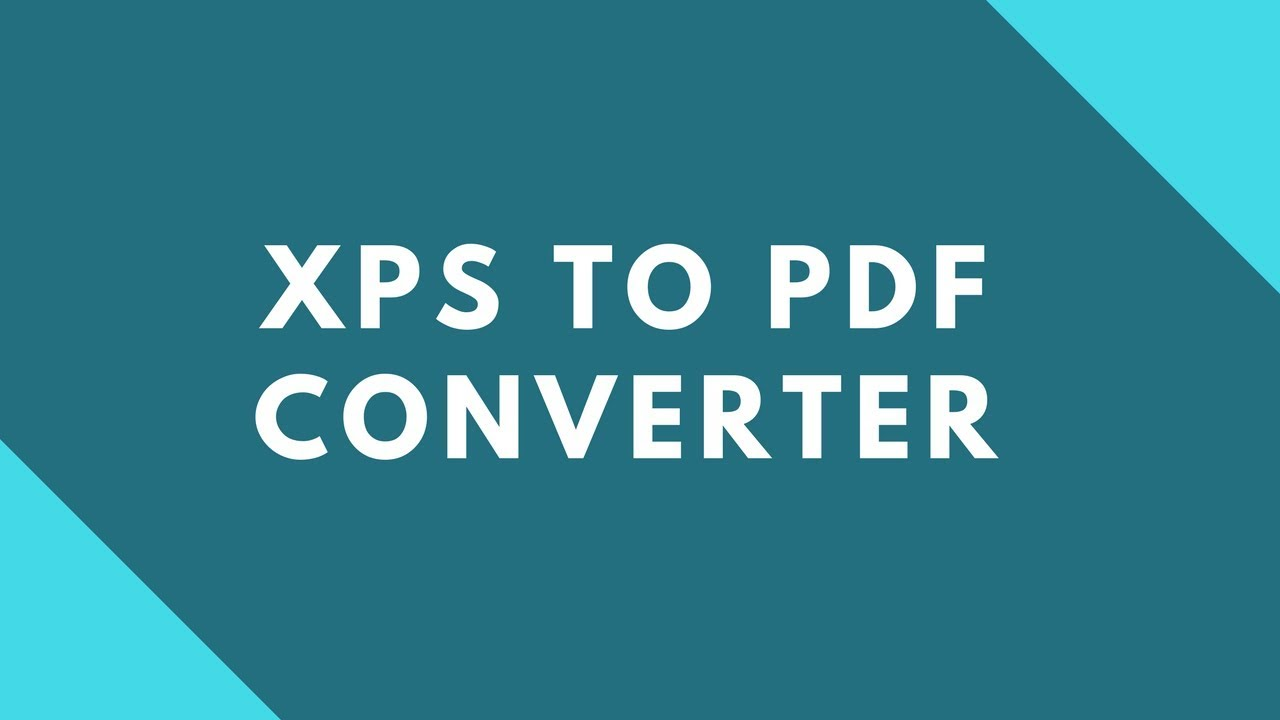 free xps to pdf converter download