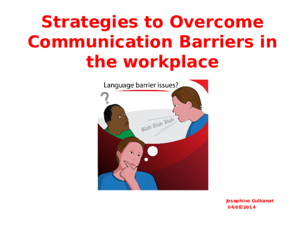 barriers to communication in the workplace pdf