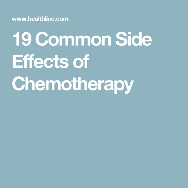 cancer chemotherapy side effects pdf