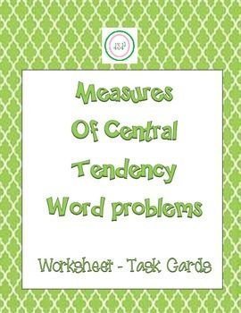 central tendency word problems pdf