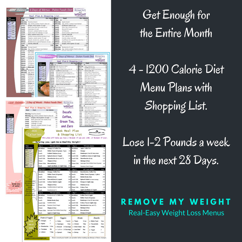 diet plan to reduce weight in one month pdf