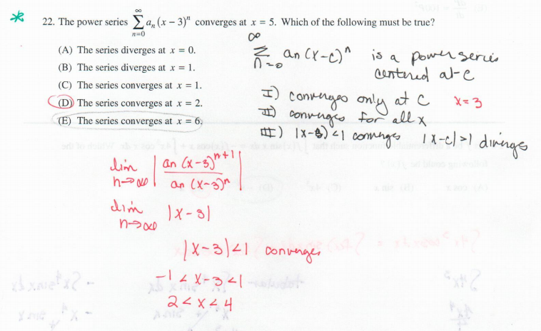 solutions series convergence tests pdf