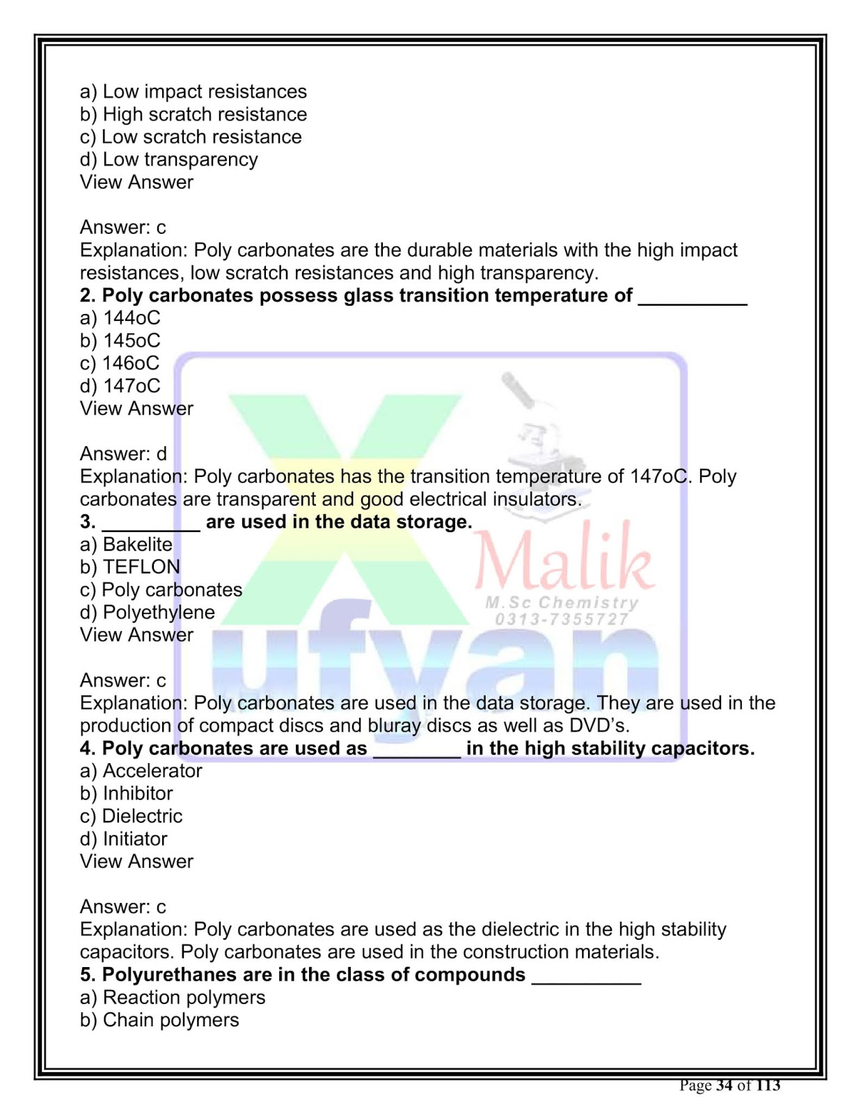 chemistry multiple choice questions pdf