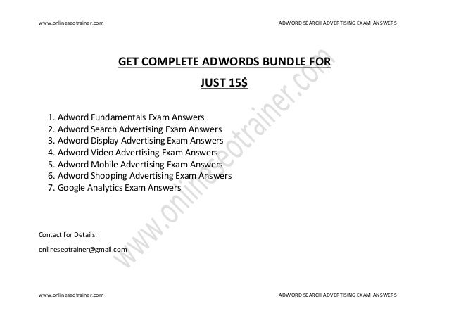 google adwords display advertising answers pdf