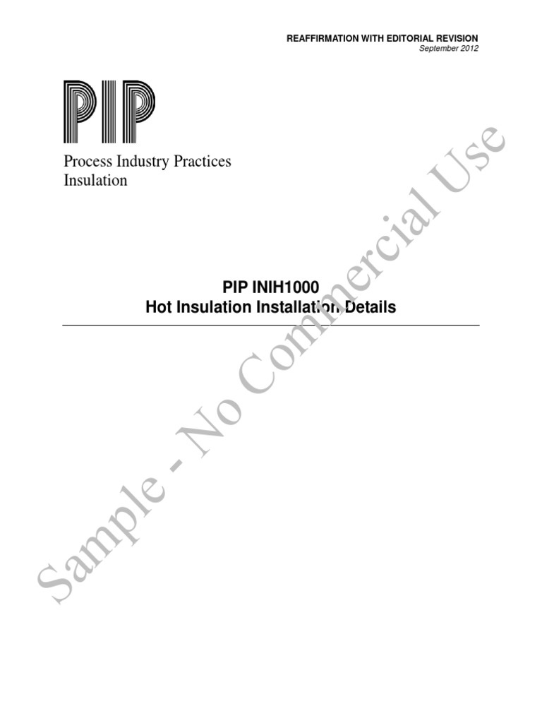 inih1000 hot insulation installation details pdf