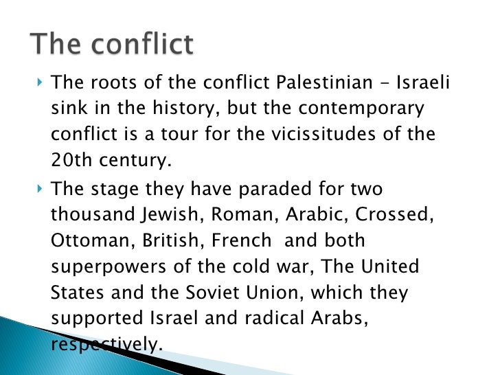israel palestine conflict summary pdf