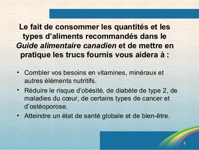 le guide alimentaire canadien pdf