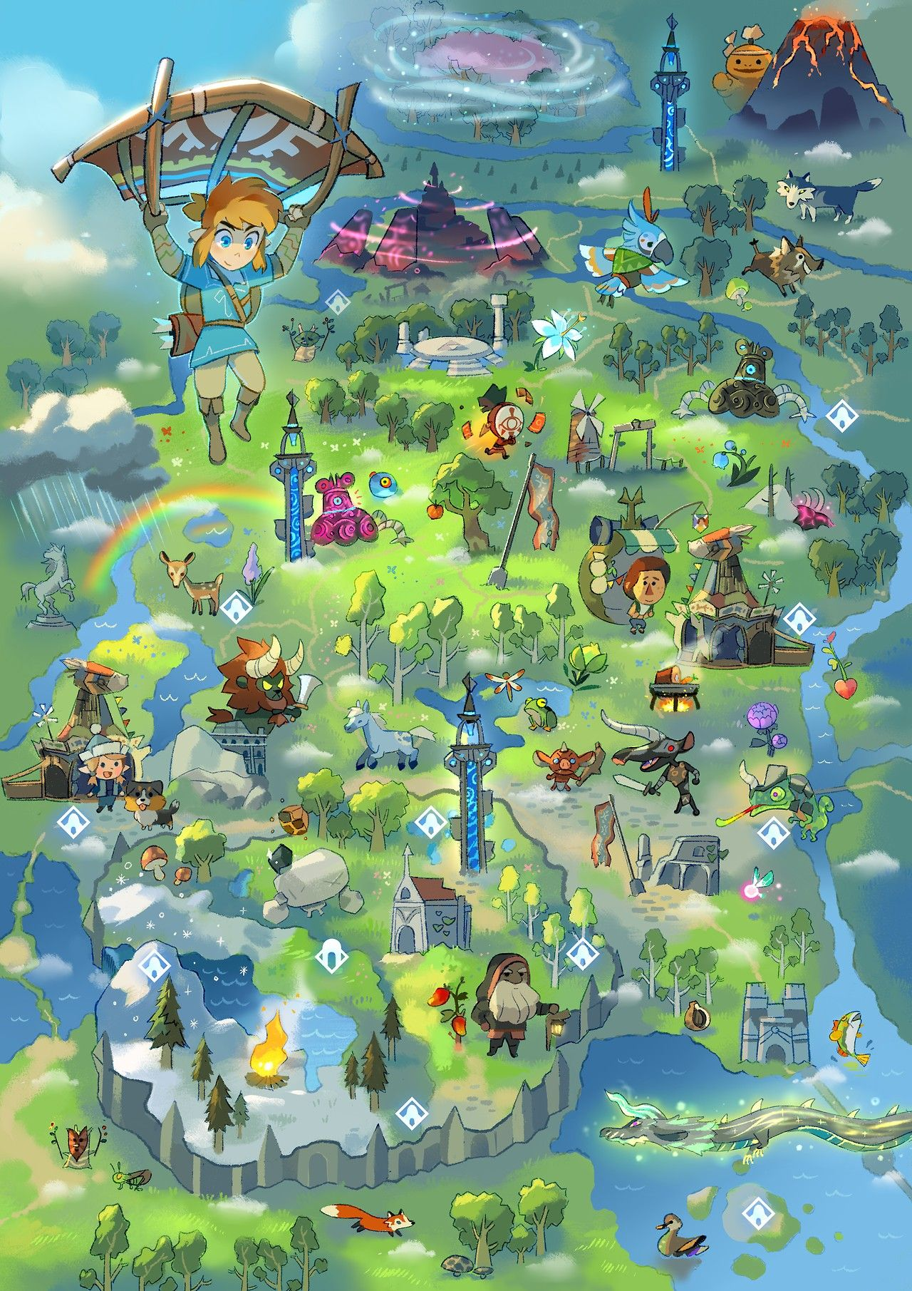 legend of zelda breath of the wild map pdf