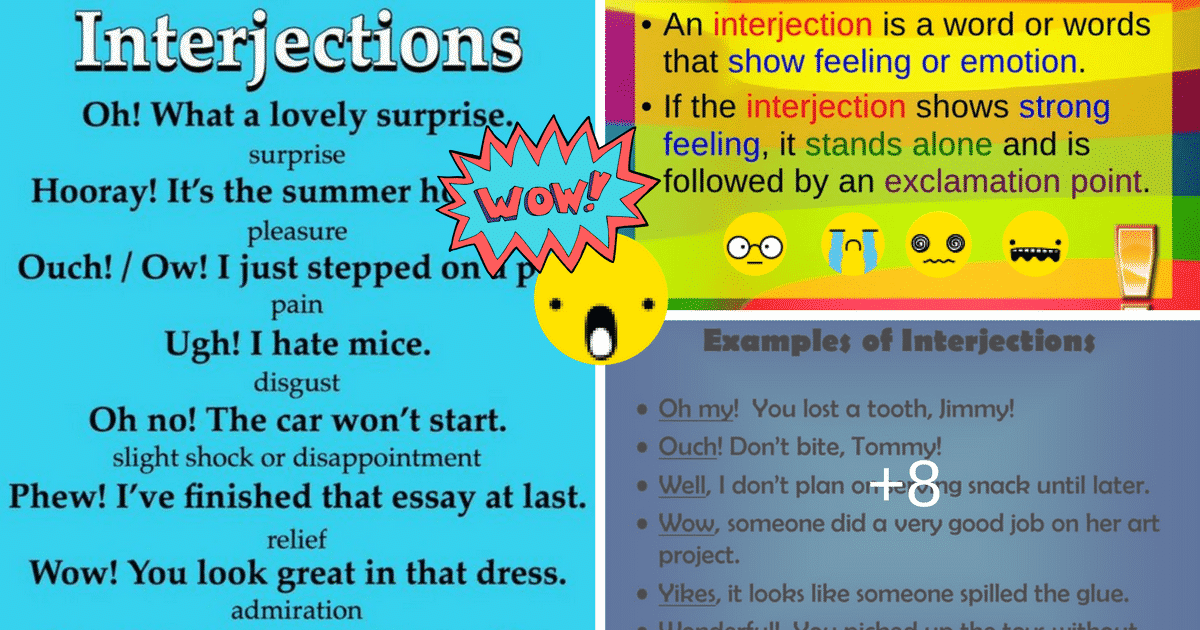 list of interjections and their meanings pdf