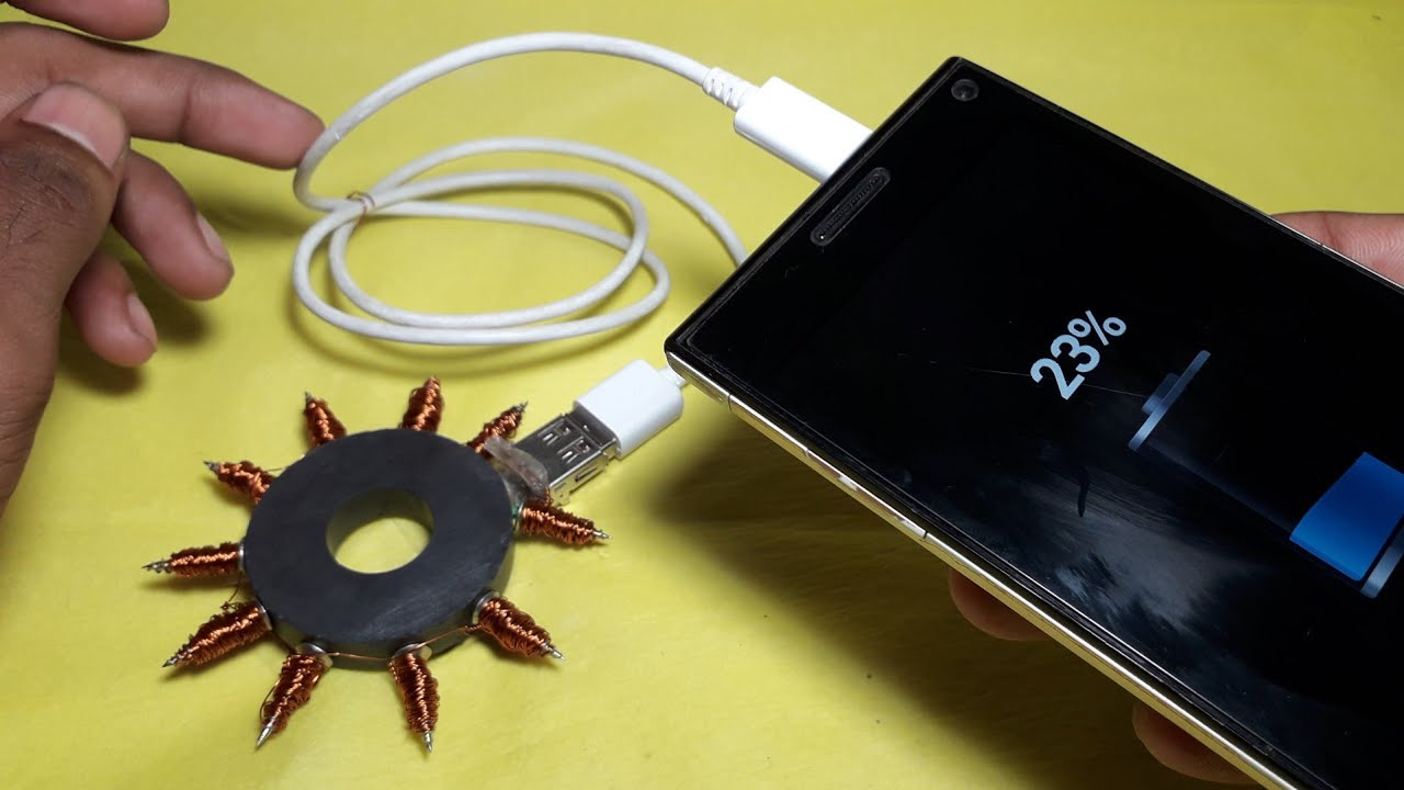 mobile cell phone charger project pdf