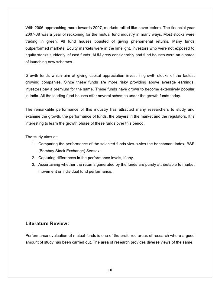 performance evaluation of mutual funds in india pdf