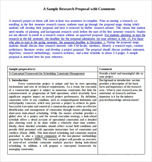 sample of a good proposal pdf