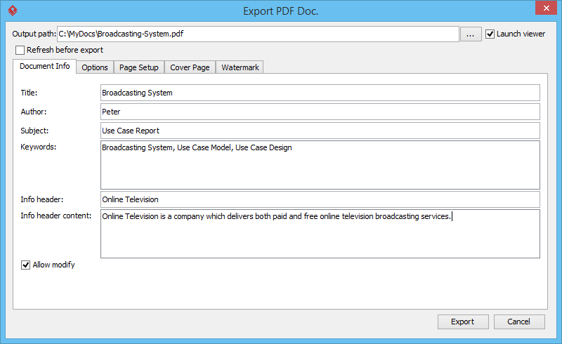 visual basic crystal reports export pdf